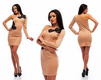 Платье женское кружево + черные стразы