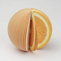 Апельсин — бумажный фрукт записная книжка