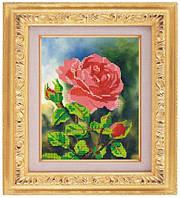 Схема для частичной вышивки бисером «Алая роза» ВШ,248х305,Габардин,Арт.ЧБ-37 /00-02