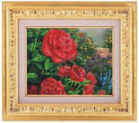 Схема для частичной вышивки бисером «Красные розы» ВШ,248х305,Габардин,Арт.ЧБ-65 /00-02
