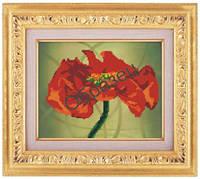Схема для частичной вышивки бисером «Красный таинственный цветок» ВШ,248х305,Габардин,Арт.ЧБ-82 /00-02