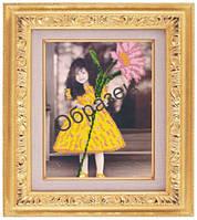 Схема для частичной вышивки бисером «Маленькая девочка» ВШ,248х305,Габардин,Арт.ЧБ-95 /00-02