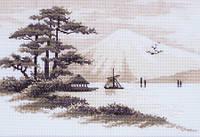 """Набор для вышивки крестом """"Восточный пейзаж.Тишина"""""""