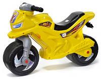 Детский мотоцикл-каталка Орион 501 желтый