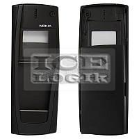 Корпус для мобильного телефона Nokia 9500, черный, копия ААА, передняя и задняя панель