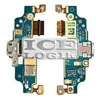 Шлейф для мобильного телефона HTC G6, коннектора зарядки, микрофона, с компонентами