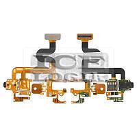 Шлейф для мобильного телефона Blackberry 9630, камеры, коннектора наушников, с компонентами
