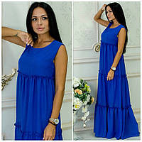 Платье из шифона Белла синий