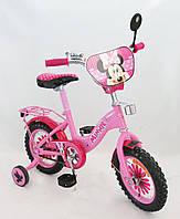 """Велосипед 2-х колес 16'' 161605 """"Мини Маус"""" со звонком, зеркалом"""