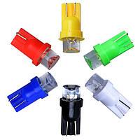 Светодиодная лампа цоколь Т10 (W5W) LED вогнутая, 12В