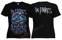 IN FLAMES (череп) - рок-футболка женская