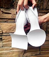 Новинка стильные кожаные босоножки на толстом каблуке 2 цвета