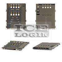 Коннектор SIM-карты для мобильных телефонов Samsung S5250, S5750; планшетов Samsung P5100 Galaxy Tab