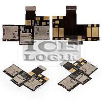 Коннектор SIM-карты для мобильного телефона HTC Desire 200, коннектор карты памяти, со шлейфом, на д