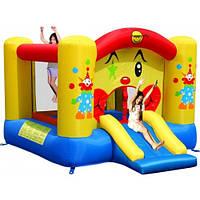 """Детский надувной батут """"Веселый клоун"""" с горкой и баскетбольным кольцом 9201"""