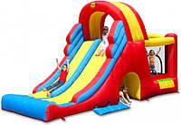 """Детский надувной батут Игровой центр """"Мега-горка"""" с батутом и туннелем 9082N"""