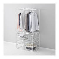 "IKEA ""АЛЬГОТ"" Рама+штанга/проволочн корзины, белый, 82x60x170 см"