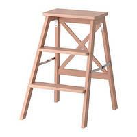 """IKEA """"БЕКВЭМ"""" Стремянка, 3 ступеньки, бук"""