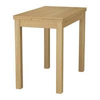 "IKEA ""БЬЮРСТА"" Раздвижной стол, дубовый шпон"