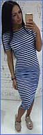 Платье-футболка р.S-M полоса