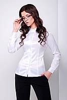 Белая Классическая Блуза с Длинным Рукавом XS-XL