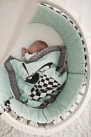 La Millou - плед для новорожденного Follow me - grey