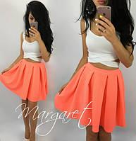 Костюм летний яркий топ и короткая пышная юбка разные цвета SMs287