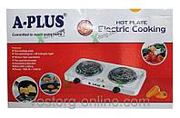 Электроплита А-Плюс, электрическая плита на 2 конфорки, A-Plus 2103, электроплита,плита электрическая походная