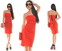 Платье женское  рюши и змейка сзади , фото 1