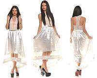Платье женское  асиметрия, металлическое украшение, фото 1