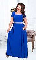 Красивое батальное платье в пол (размеры 50-58)