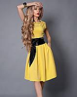 Платье из стрейчевой итальянской костюмной ткани