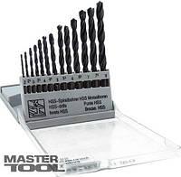 Набор сверл для металла, 13 шт HSS чёрные(2-8 мм, шаг 0,5 мм) в пластикоаой коробке Mastertool (11-0213)