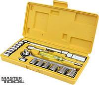 Набор ключей и насадок торцевых 20 шт в кейсе Mastertool (78-0257)