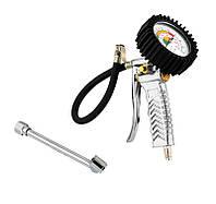 Пневмопистолет для подкачки колес с манометром 104 мм проф Mastertool (81-8651)