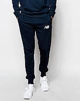 Cпортивные штаны New Balance синие белый значёк