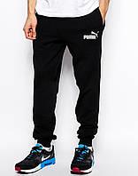 Cпортивные штаны Puma/Пума чёрные имя+значёк белые