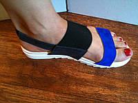 Женские сандалии, босоножки 2485 Кожа (легкие, на резинках)