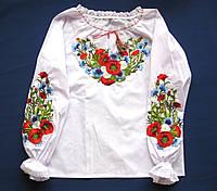 """Вышиванка. Детская вышитая блузка для девочек """"Марта"""". Детские вышиванки"""