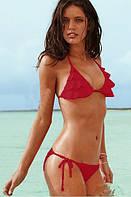 Красный купальник Victorias Secret с рюшами VS0138
