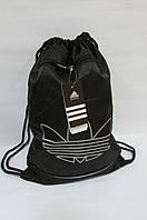 Рюкзак-мешок обувной тонкий Adidas (486) черный код 0307А