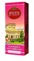 Чай в пакетиках черный Хэйлис Клубника со Сливками 25 пакетиков