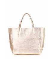 Женская золотистая кожаная сумка POOLPARTY SOHO GOLD