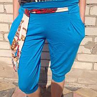 Капри женские синие