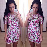 Стильное летнее короткое платье