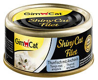 GimCat Shiny Cat Filet Tuna Anchovy Консервы для кошек с тунцом и анчоусом