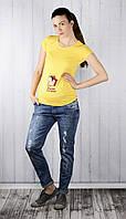 Модные джинсы для беременных (с потертостями), синие
