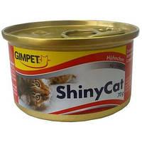 Gimpet Shiny Cat Chiken Консервы для кошек с кусочками курицы в желе