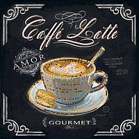 Вышивка бисером Идейка Кофе латте (ВБ2015) 20 x 20 см