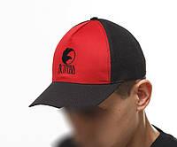 Кепка Ястребь черно-красная